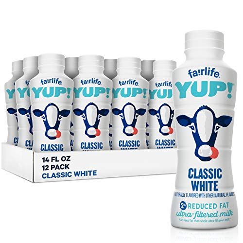 fairlife YUP! Low Fat Ultra-Filtered Milk, Classic White (Packaging May Vary), 14 fl oz, 12 Count