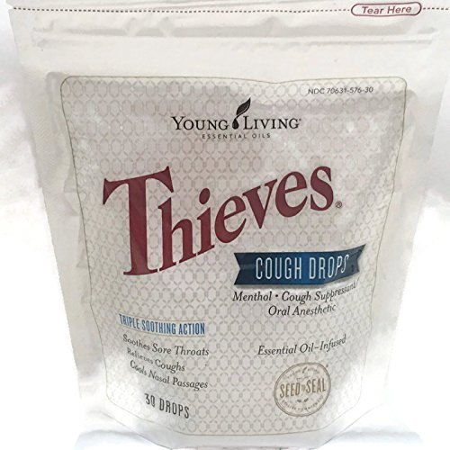 Thieves Cough Drops 30 Ct Essential Oil Infused by Young Living Essential Oils
