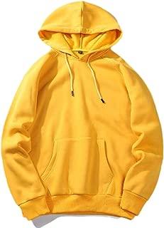 Men's Hoodie Basic Solid Color Long Sleeve Pocket Hooded Sweatshirt