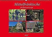 Mittelfraenkische Bocksbeutelstrasse (Wandkalender 2022 DIN A2 quer): Kleine Doerfer und guter Wein - das ist die Mittelfraenkische Bocksbeutelstrasse (Monatskalender, 14 Seiten )