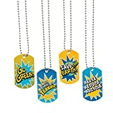 Fun Express Earth Day Dog Tag Necklace - 12 Pieces - Educational and Learning Activities for Kids