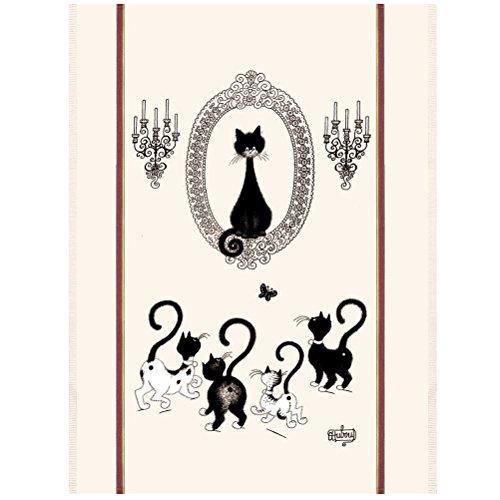 Torchon Les Chats de Debout - Portrait de chat