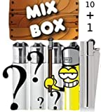 CLIPPER® Feuerzeuge Collectors Mix - Wundertüte ★ 10 PLUS 1 Box ★ mit Metall-Clipper unserer...