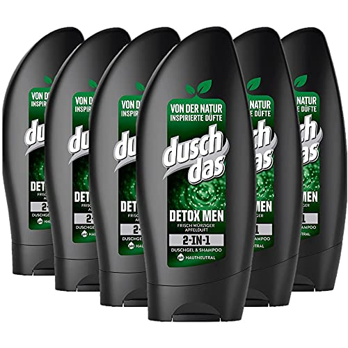 Duschdas Duschgel Detox Men, 6er Pack (6 x 250 ml)
