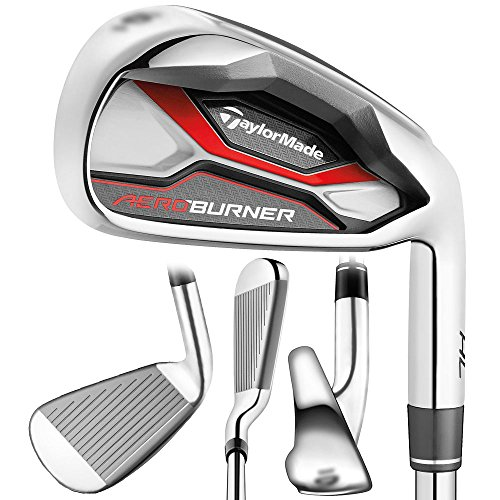 For Sale! TaylorMade Golf AEROBURNER HL Irons Steel Regular Flex 4-PW/AW Right
