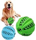 Pelota para Perros,Bola de Limpieza de Dientes Juguetes para Perros Mascotas Pelota de Goma Elástica,Bolas Juguetes Interactivos para Morder Perro,2 Pieces