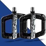 Nylon Pedales Bicicleta Montaña, Antideslizante Ligeros Pedales MTB Plataforma, Pedales Bicicleta Con 3 Cojinetes Sellados Para Bicicleta De Carretera BMX /MTB Road Bicycle 9/16 Pulgadas