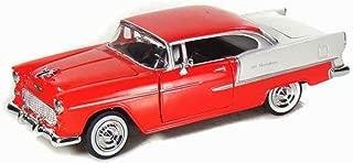 Motormax 1955 Chevy Bel Air 1/24 Scale Diecast Model Car Red