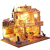 Blanket Modelo de casa de muñecas de Madera de Bricolaje y Kits de Manualidades para Habitaciones pequeñas con Muebles, Luces LED, los Mejores Regalos de cumpleaños de Año Nuevo para niños y Adultos
