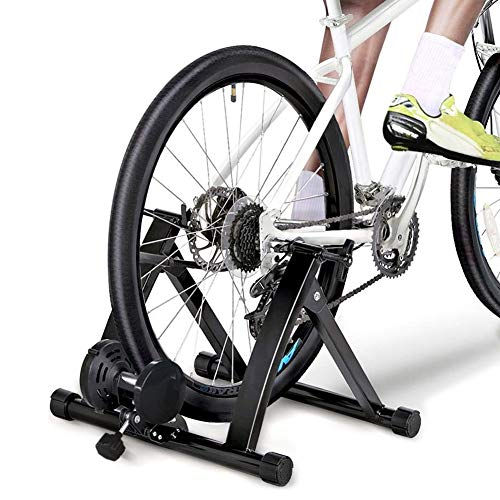 Ruita Upgraded Bicycle Turbo Trainer, Magnetic 8 Resistance Level Indoor Bike Trainer Bicycle Stand Stationary Black New