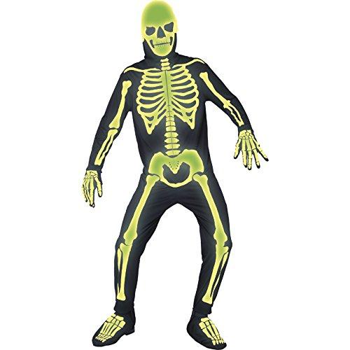 Smiffys 36124M Déguisement Homme Squelette du Cimetière du Ma Gothique, Noir, Taille M