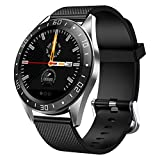 LIGE Smart Watch Fitness Tracker with Heart Rate Monitor Blood Pressure, Color Screen Smartwatch Bracelet Step Counter Call Reminder Muisc Control for Android iOS Phones for Men Women Kids, Black