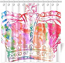 Home Decor Bath Curtain Watercolour Watercolor Paint Ink Blend Effect Polyester Fabric Waterproof Shower Curtain for Bathroom, 72 X 72 Inch Shower Curtains Hooks Included