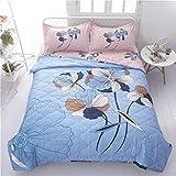 Funda nórdica de verano y 2 fundas de almohada de 1,5 tog, diseño de dibujos animados, lavable a máquina Trendy Quilt cama para sillas o sofá 033 (color: D, tamaño doble)