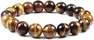 Fashion Natural Stone Bead Tiger Eye Bracelet Hand Stretch Men's Buddha Bracelet Yoga Meditation Jewelry Men 6mm 8mm 10mm ...