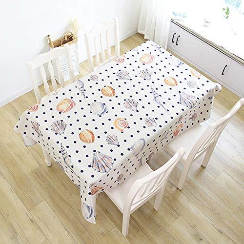 WJ Mantel de algodón y Lino Marino. Funda Protectora contra el Polvo para salón, Style 3, 100x140cm
