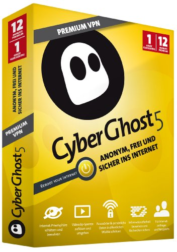 CyberGhost Premium VPN 12 Monate 1 Gerät