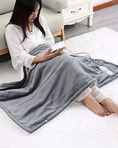 MaxKare電気毛布電気ひざ掛け、温度6調節、過熱保護&に電源が自動オフします140x80cm