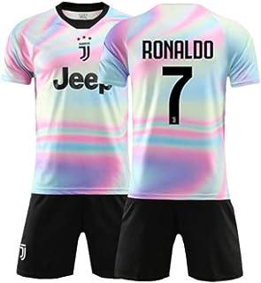 LHWLX 2019 Traje Deportivo Camisetas y Shorts de fútbol, 7 Chico Uniforme de Futbol para los Aficionados al Futbol Ronaldo - Adultos y niños
