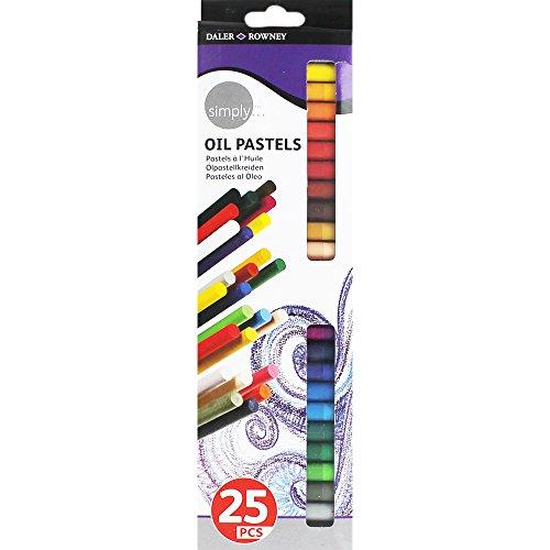Daler Rowney - 157500125 - Kit De Loisirs Créatifs - 25 Pastels À L'Huile Simply