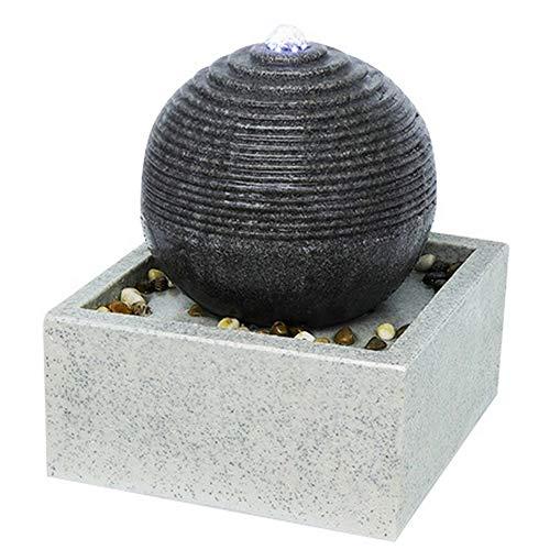Zen\'Light SCFR19-C4 Zimmerbrunnen, Polyresin, Grau, 30 x 30 x 34 cm