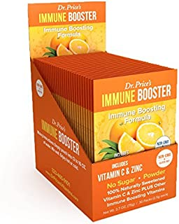 Immune Booster Natural Vitamin C Powder + Zinc, Chromium & Amino Acids BCAA | New! Orange Flavor (30 Packets) Drink Mix | ...