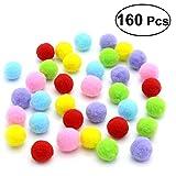 UEETEK Juguetes del gato 180PCS los 3.5CM surtieron las bolas suaves del juguete del gato del color del gatito juegan las bolas del pompón (color de la mezcla)