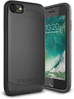 iPhone 7 and 8 Case, Snugg Apple Dual Layer Slim Cover [Infinity Range] Protective Bumper in Black