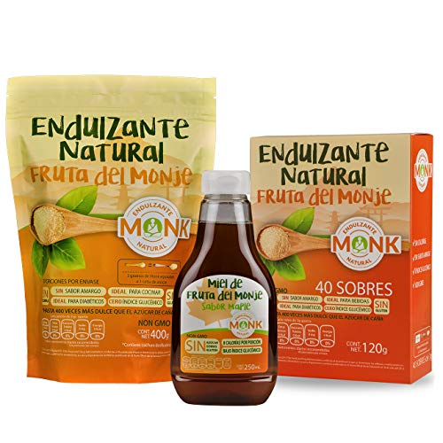 Combo de Endulzantes de Fruta del Monje Sustituto de Azúcar