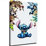 Lilo and Stitch - Póster sencillo y elegante de películas 2002 para decoración de fiestas, suministros de 30,5 x 45,7 cm