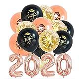 JOJOR Abschluss Deko 2020 - Abschlussfeier Luftballons, Graduation Ballon Helium für Graduierung...