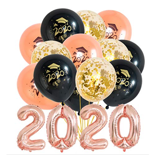 JOJOR Laurea Decorazioni Festa 2020, Palloncini Laurea Cappello Congratulazioni, Graduazione Decorazione Accessorio, 19 Pezzi