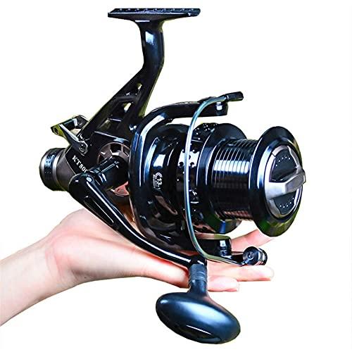 WEARRR Big Metal Pesca Reel Strong Drag Spinning Reel Carpones Carretes Trolling (Bearing Quantity : 13, Spool Capacity : 3000 Series)