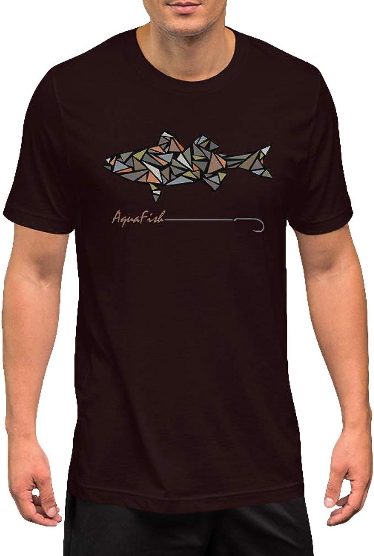 AquaFish Apparel Striped Bass Fishing Shirts   Short Sleeve Premium Graphic Design Fishing Shirts for Men