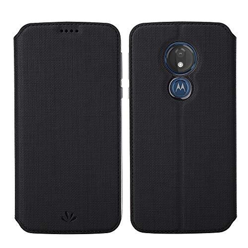 Eastcoo Kompatibel mit Motorola Moto G7 Power Hülle PU Leder Flip Hülle Tasche Cover Schutzhülle mit [Standfunktion][Magnetic Closure][Wallet]für Moto G7 Power Smartphone (Moto G7 Power, Schwarz)
