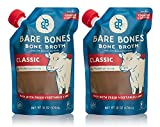 Bare Bones Beef Bone Broth for Cooking and Sipping, 100% Grass-fed, Organic, Protein and Collagen...