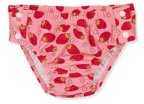 Playshoes UV-Schutz Windelhose Erdbeeren zum Knöpfen Costume-Pannolino, Rosa (Rosa 14), 74 (Taglia Produttore: 74/80) Bimba