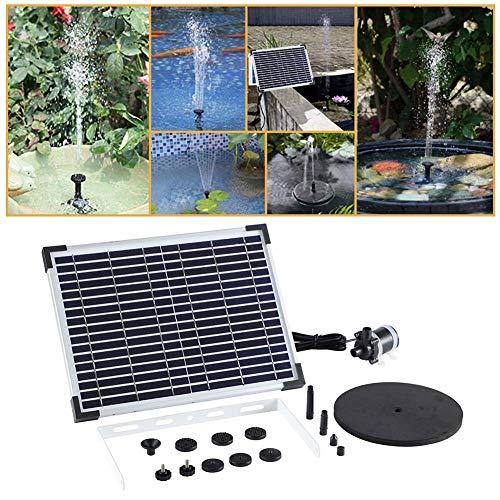 lembrd Solar Springbrunnen 10W Solar Brunnen Wasserpumpe Outdoor Solar Pumpe Springbrunnen - Hängende wasserdichte Tauchumwälzpumpe für den Garten