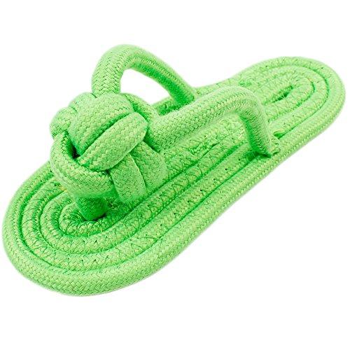 Laat - Giocattolo di corda in masticare in cotone a forma di pantofole interattivo per cane e cucciolo