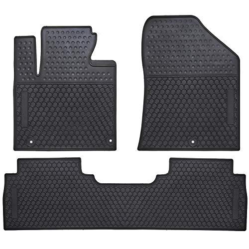 Ucaskin Car Floor Mats Custom Fit for Kia Sorento 2016 2017 2018 2019 2020 Odorless Washable Rubber Foot Carpet Heavy Duty Anti-Slip All Weather Protection Car Floor Liner-Black