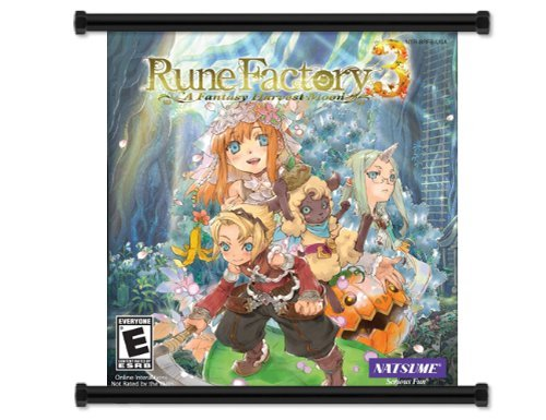 Rune Factory 3 A Fantasy Harvest Moon Game Fabric Wall Scroll Poster (16 x 17) Inches by Studio C