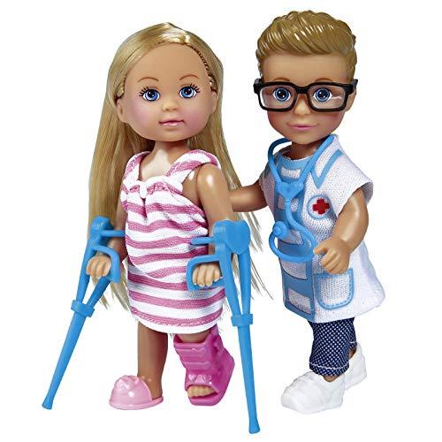 Evi Love und Timmy Spielzeugpuppe Doktor Krankenhaus 12 cm Kleine Puppe Medizin Modepuppe Spielzeug Kleidung Kleider Ankleidepuppe Puppen Puppenzubehör Zubehör Puppenkleidung Anziehsachen Männer Mann