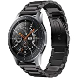 Kartice Compatible with Samsung Galaxy Watch (46mm) Bands 22mm Solid Stainless Steel Metal Replacement Strap for Galaxy Watch (46mm) SM-R800 (Black)