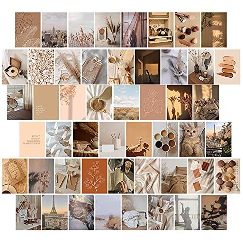opamoo Collage de Pared, 50 Piezas Kit de Collage de Pared Fotos Pared Decoracion Kit de Posters para Pared Estética colección de fotos de dormitorio para Decoración Habitación Dormitorio Conjuntos