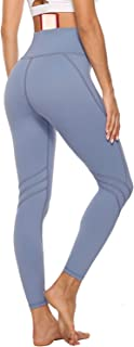 Persit High Waist Yoga Pants with Pockets for Women, Non See-Through Tummy Control 4 Way Stretch Workout Athletic Leggings