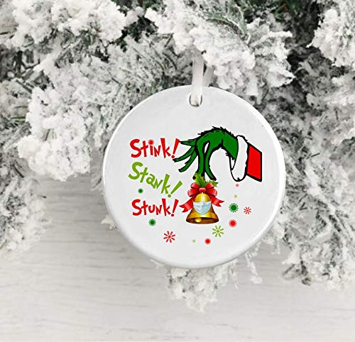 MugStink Stank Grinch OrnamentSocial Distancing Grinch 20202020 Christmas GiftPandemic Grinch 2020Grinch Quarantine Ornament 2020