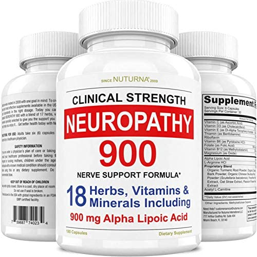 Neuropathy Support Supplement Nerve Relief with 900 mg Alpha Lipoic Acid Daily Dose Peripheral product image