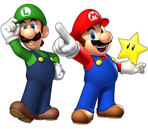 Stickersnews 15032 - Adesivo da parete, motivo Mario e Luigi (Super Mario), 30 cm