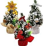 YUESEN Árbol Navidad Mini árbol de Navidad Decoración Escritorio Manualidades Ornamentos para Decoración de Escritorio de Oficina en Casa Micro Paisaje(3pcs)