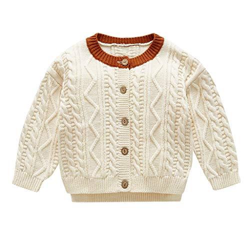 Vectry Abrigos Niña Chaquetas Bebé Kids Niña Child Invierno Cálido In Hand Down Suéter Jacket Tejer Tops Cardigan